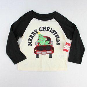 Holiday Time Long Sleeve Christmas Tee Toddler Boy